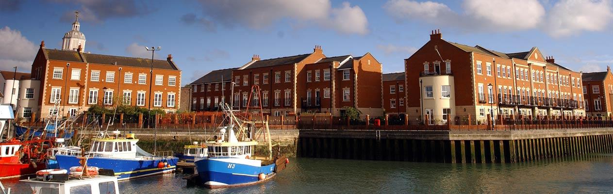 Het stadscentrum van Portsmouth