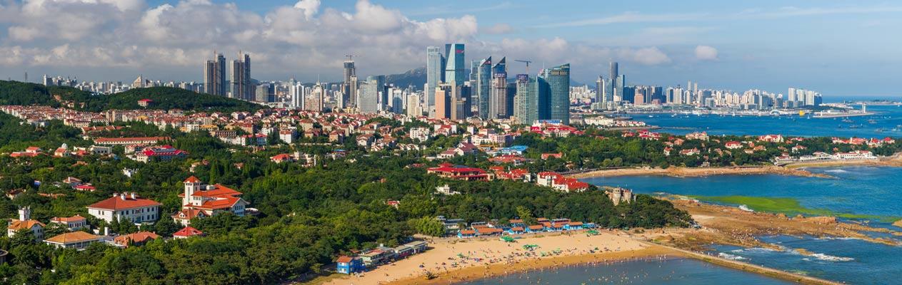 De stad Qingdao, China