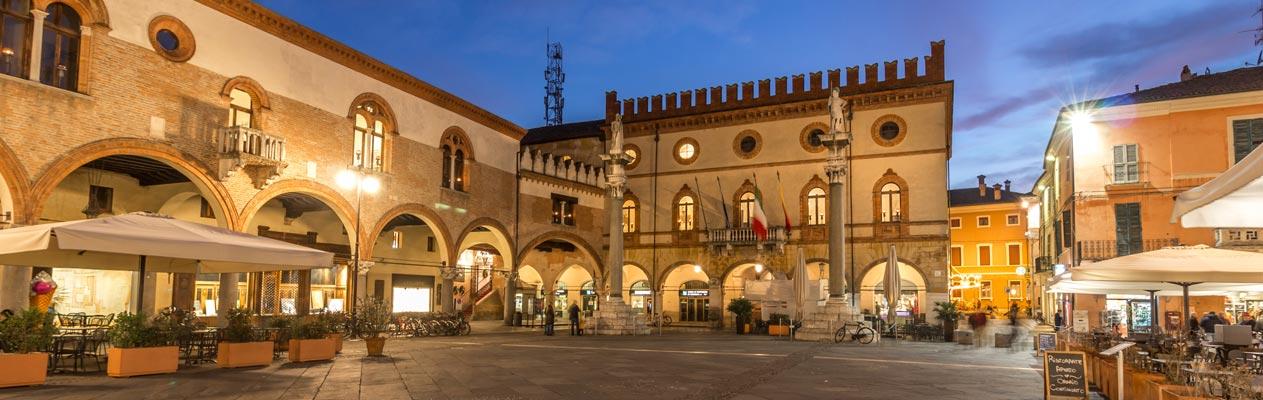 Het stadscentrum van Ravenna, Italië