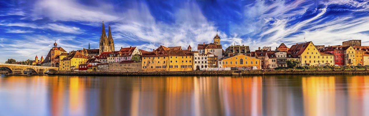 De stad Regensburg, Bavaria, Duitsland