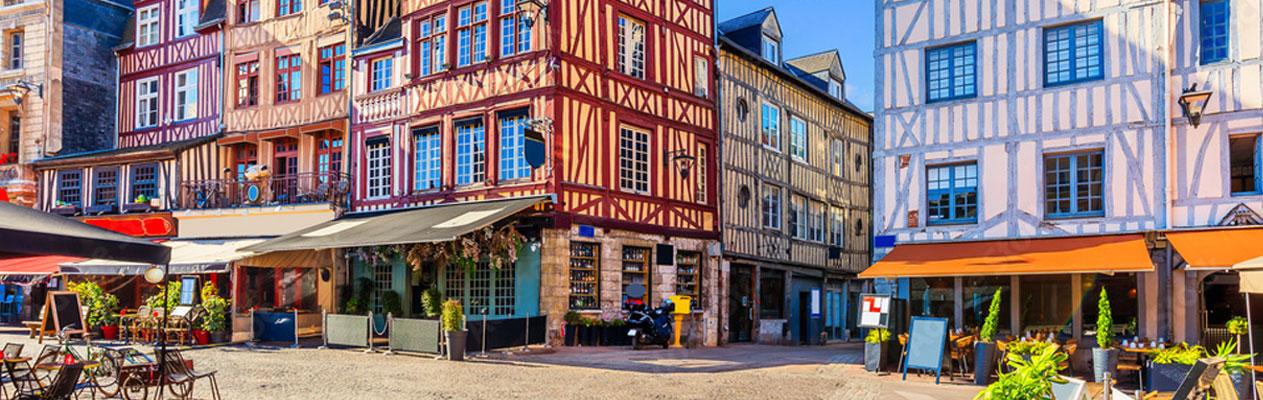 Het stadscentrum van Rouen, Frankrijk