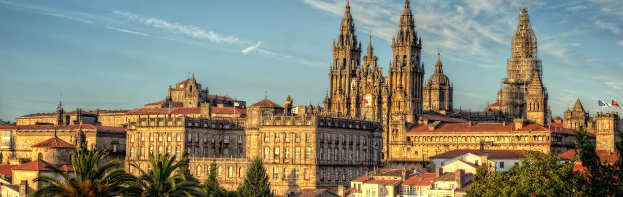 Uitzicht over Santiago de Compostela