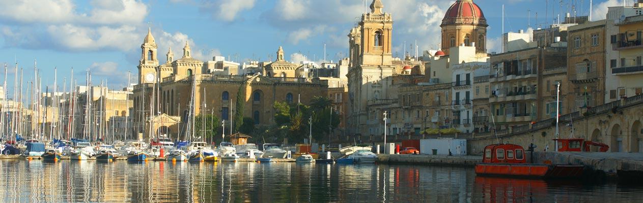 St. Julian's kustplaats in Malta