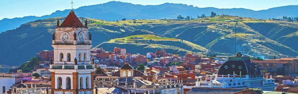 Sucre, de hoofdstad van Bolivia