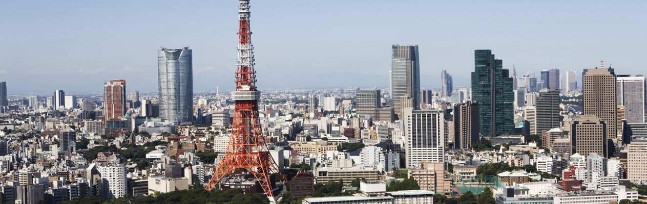 Skyline van Tokyo, Japan