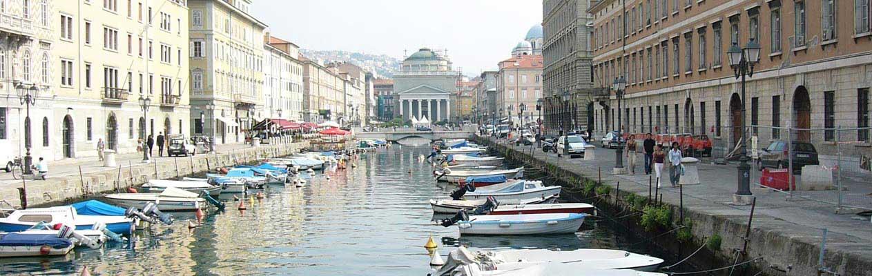 Canale Grande in Trieste, Italië