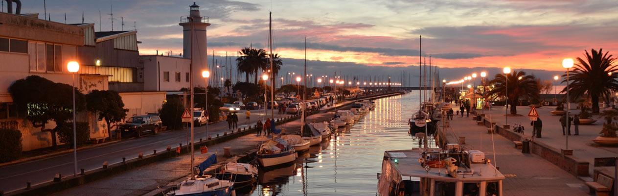 Viareggio aan de Toscaanse kust in Italië